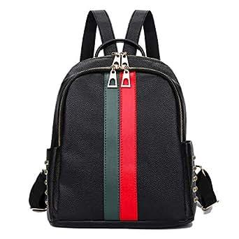 Artwell Women Mini Cute Backpack Purse Fashion Leather School Shoulder Bag Ladies Girls Rucksack (Green+Red)