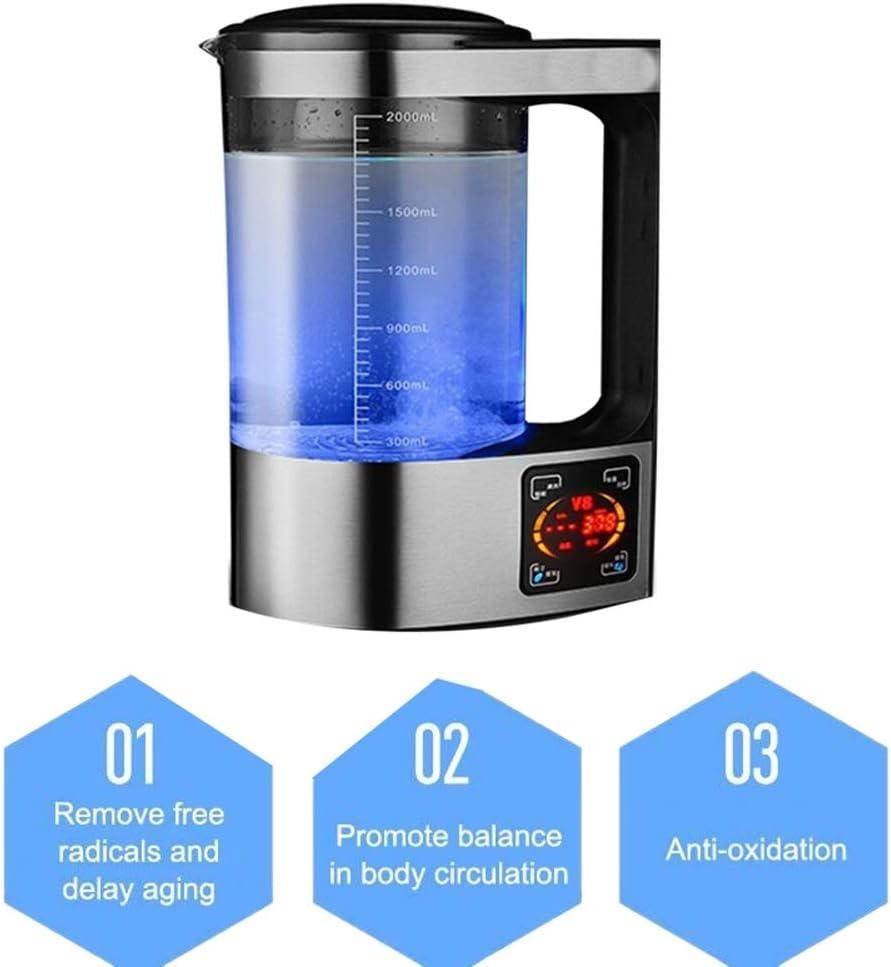 ポータブル水素リッチ水生成器アルカリエナジーメーカーイオナイザカップボトル、BPAフリーの健康的な浄水処理の健康ケトルフィルター
