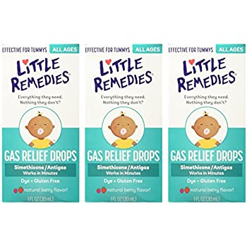 Little Remedies Tummys Gas Relief Drops, Natural Berry, 3 Count