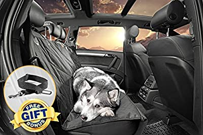 Gudaco Premium Pet Car Seat Cover - Waterproof Dog Car Seat Covers for Well Protected Cars & Comfortable Pet - Use as Car Hammocks for Pets or Back Seat Covers for Dogs - Quilted, Non-Slip Design