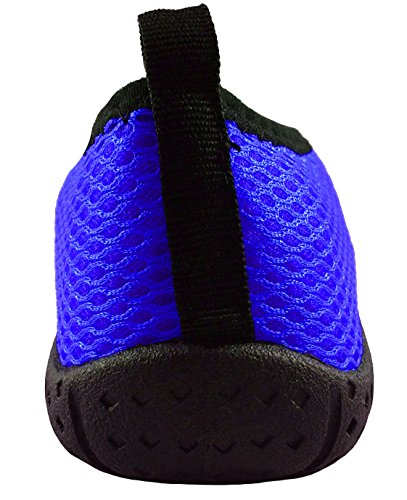 Wave Runner Quick Dry Wasserschuhe Aqua Socken Barfuß Slip-On mit Reißverschluss für Männer Frauen & Kinder Blau