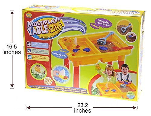 CHIMAERA Multi-Play 2-in-1 Sandbox / Sand and Water Table with Beach Playset by CHIMAERA (Image #6)