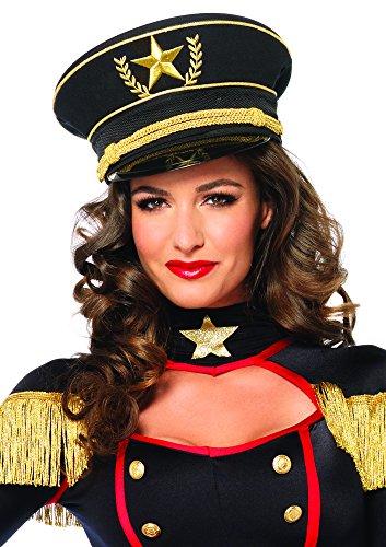Leg Avenue Women's Military Hat Costume Accessory, Black, One Size]()