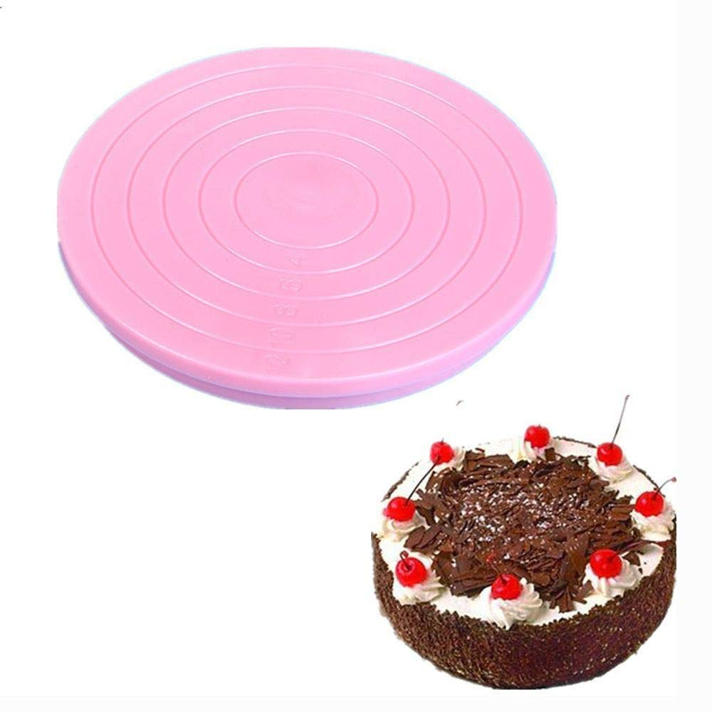 Alimao Mini Cake Plate Revolving Platform Turntable Round Rotating Swivel Baking Cute Pink by Alimao (Image #4)
