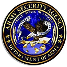ROUND Army Security Agency ASA Seal Sticker
