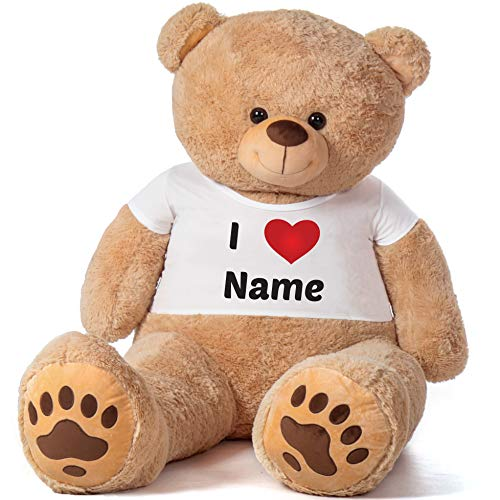 Giant Teddy Brand Premium Quality Super Soft Personalized Teddy Bear Gift Package (6 Foot Giant Teddy Bear)