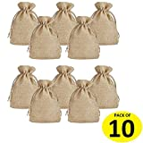 LifeKrafts Jute linen Potlis   Gift Bags for Return Gifts Bags   Pack of 30     Size 4*4 inches(10*10cms)   Jute Linen,Burlap   Natural Jute Color  For Weddings , Functions, Parties, Baby Showers, Birthdays, Festivals or Any Occasion