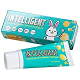INTELLIGENT Natural Saliva-Enzymes Kids Toothpaste – Premium Children's Toothpaste - Fluoride Free, Safe to Swallow, Fights Plaque and Tartar - White Healthy Teeth, Fruits Mint flavor, 40 mL (2 Pack)