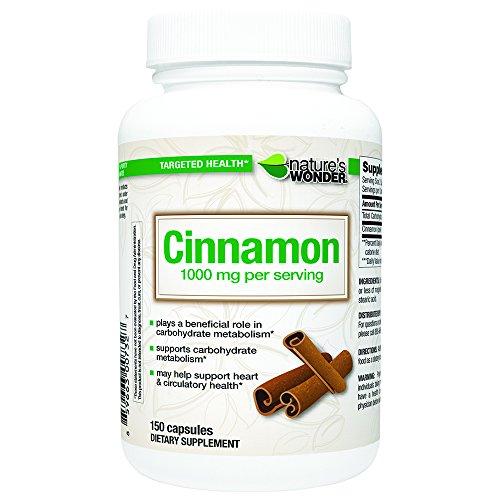 Natures Wonder Cinnamon 500mg Capsules