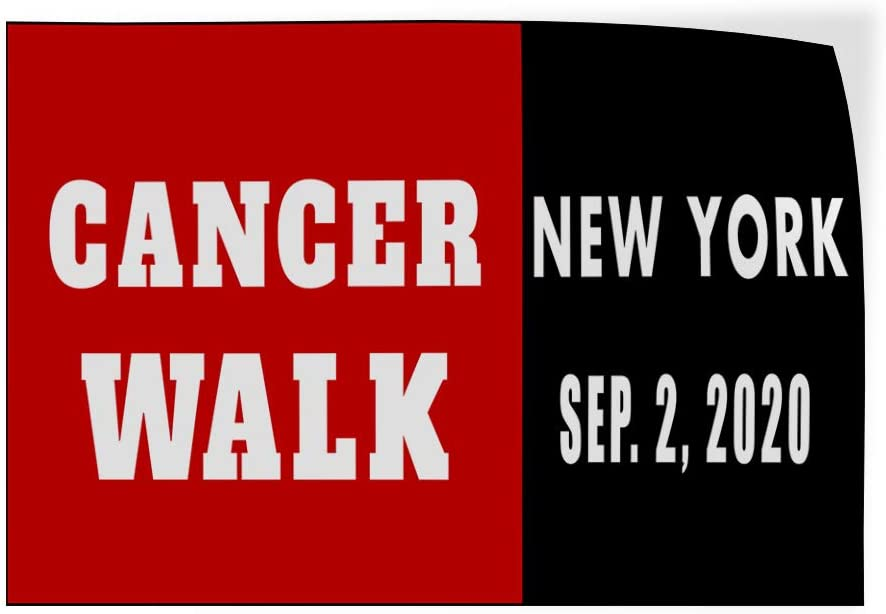 Custom Door Decals Vinyl Stickers Multiple Sizes Cancer Walk Location Day Blue Business Cancer Walk Outdoor Luggage /& Bumper Stickers for Cars Red 42X28Inches Set of 5