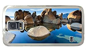 Hipster coolest Samsung Galaxy S5 Case rocks water sunshine PC Transparent for Samsung S5