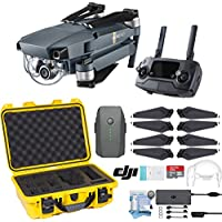 DJI Mavic Pro Drone with Custom Nanuk Waterproof Hard Case (Yellow)