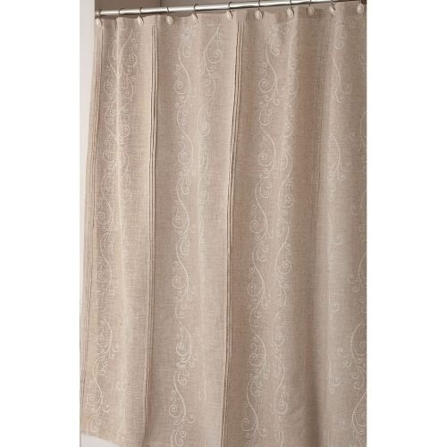 Lenox Pin Tuck Shower Curtain, French Perle