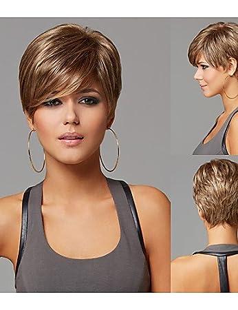 Perücken Europäisches Haar Pixie Cut Frisuren Kurze Gerade