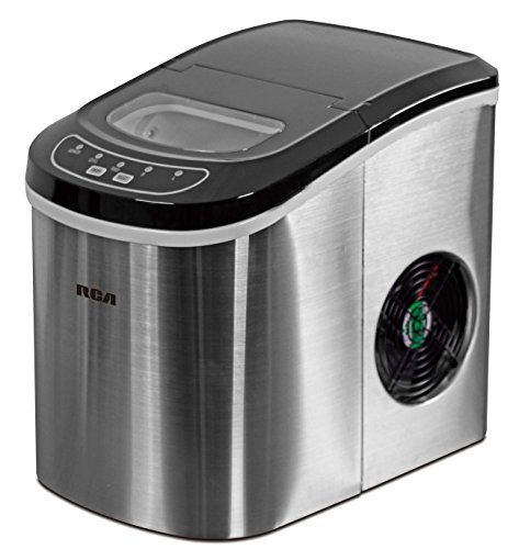 26 Lbs Counter Top Ice Maker, Stainless Steel