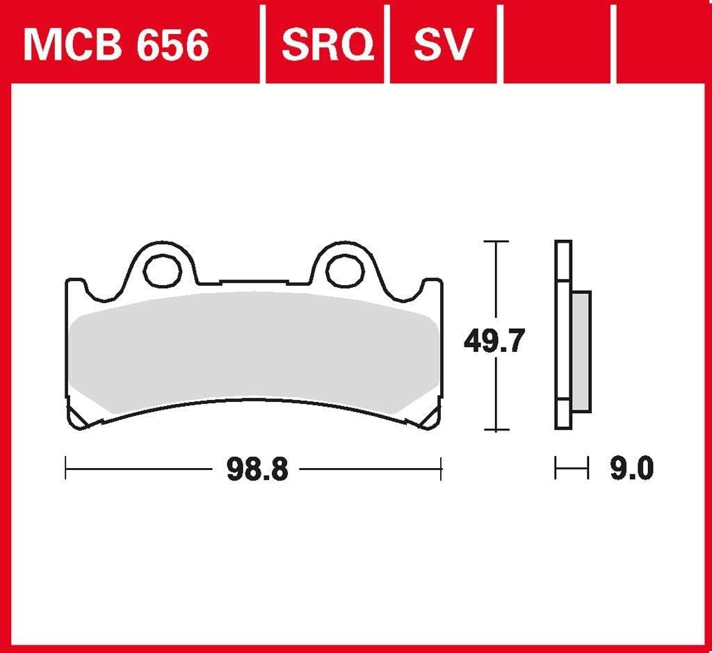 Plaquette de frein TRW Sinter YZF 750 R 4HN 95-97 avant