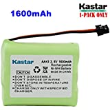 Kastar 1-PACK AA3 3.6V 1600mAh MSM Ni-MH Rechargeable Battery for Panasonic Type 1 P-P501 PP501 P-P501A PP501A P-P501PA P-P504 PP504 P-P508 P-P508A P-P510 P-P510A PP510A, PQP60AAF3G2 PQP85AA3A