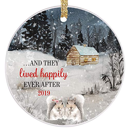 PrJoyint Happy Bunny Married Couples First Christmas Ornament Happily Ever After Wedding Ornament 2019 - ...and They Lived Happily Ever After 2019