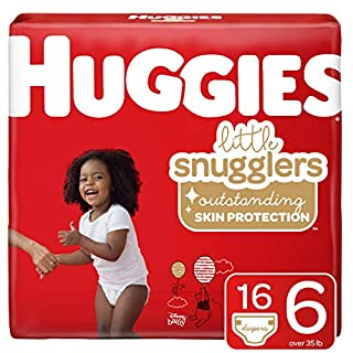 Huggies Little Snugglers Baby Diapers, Size 6, 16 Ct