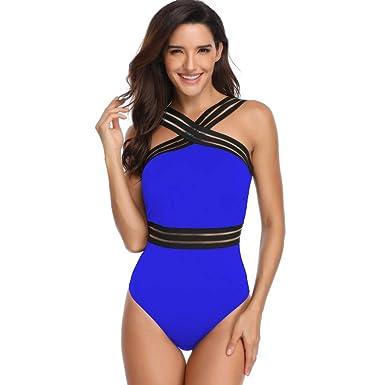 sito affidabile 26b4a 4b77f Leey Costume da Bagno Donna Intero da Spiaggia Donna Costumi da Bagno  Intero da Bagno Bikini Imbottito Push-up Monokini-Bikini Donna Mare  Calzedonia ...