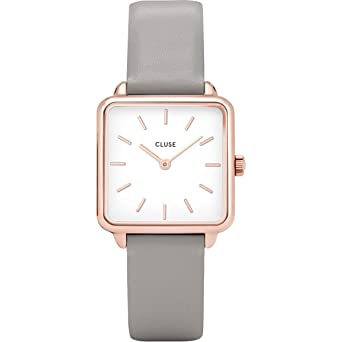 Cluse Reloj Analógico para Mujer de Cuarzo con Correa en Cuero CL60005: Amazon.es: Relojes