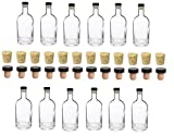 Nakpunar 12 pcs 25 oz Heavy Base Glass Liquor Bottle with T-Top Synthetic Stopper with Bonus Regular Bottle Cork - 750 ml