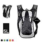 Hydration Backpack,xhorizon TM SR Unisex Cycling Bicycle Backpack Camelback Water Rucksack Backpack Bike Outdoor Sport Bladder Bag Hiking Climbing Pouch -Black