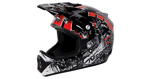 Amazon.com: Nitro Extreme MX Off-Road Casco, Negro/Rojo ...