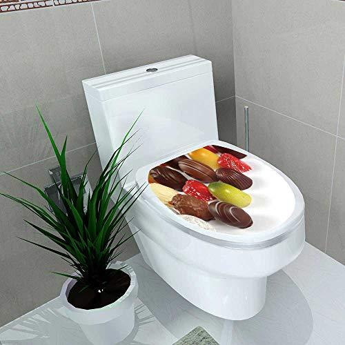 Bathroom Toilet seat Sticker Decal Photo ssorted Truffles pralines Liqueur Filled Chocolates Decal Sticker Vinyl W8 x L11