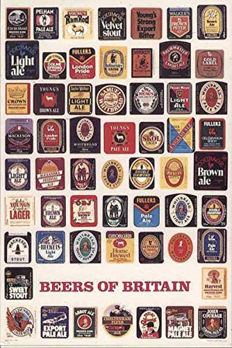 Beers Of Britain Breweriana Great Britain Original Vintage Postcard