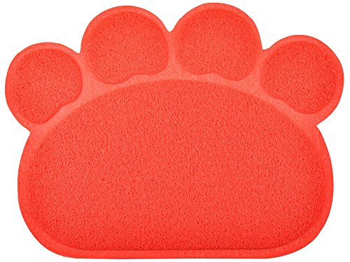 DM Paw-Shaped Large Cat Litter Box Mat,7 Colors Available,23.5×17.5 Inches