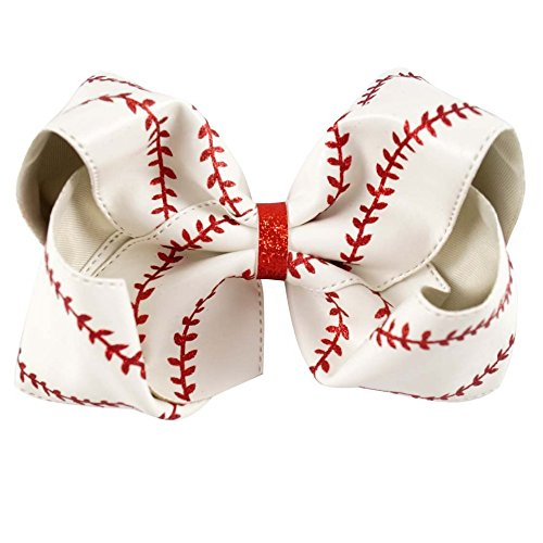 Large baseball bow - hairbow - hair bow - boutique bow - (Baseball Bows)