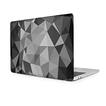 Carcasa MacBook Pro 13 Touch Bar, Funda Dura Carcasa protector de plástico para MacBook Pro 13 con/sin Touch Bar A1706/A1708 Case Cover (Cristal Gris)