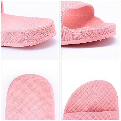 Slippers Slipper Leisure Red House Sandals Slip Unisex Indoor for Open Bath BESIDESTAR Men Women and Toe Anti Smile YnqAEwnt