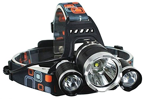 FLASH SALE -Brightest and Best LED Headlamp 10000 Lumen flashlight - IMPROVED LED, Rechargeable 18650 headlight flashlights, Waterproof Hard Hat Light, Bright Head Lights, Running or Camping headlamps by Jazemoc