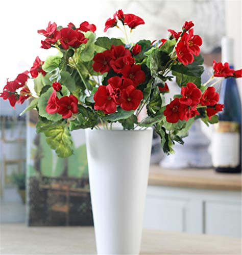 ial Chinese Flowering Crab-Apple Fake Begonia Malus spectabilis Flower for Wedding, Room, Home, Hotel, Party Decoration (Red) (Malus Flowering)