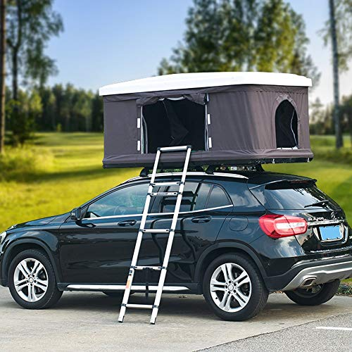 Hydraulic Automatic Roof Tent Outdoor Self-Driving Tour, Suitable for 2-3 People ABS Car Tent Roof Tent