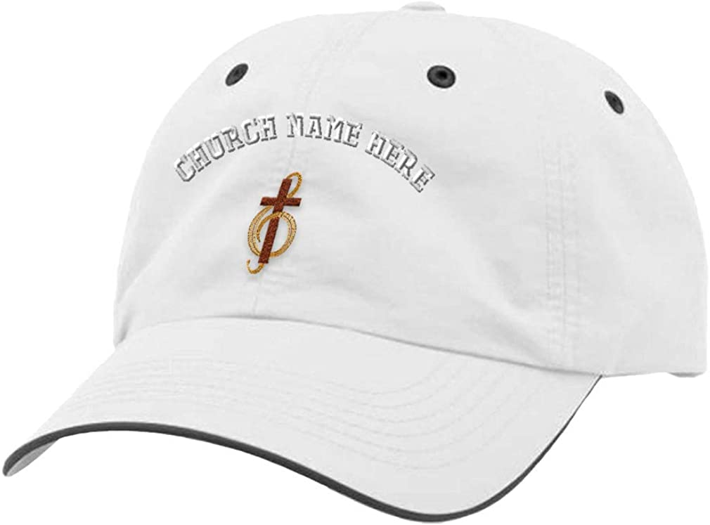 Custom Richardson Running Cap Choir Cross Embroidery Church Name Polyester Hat