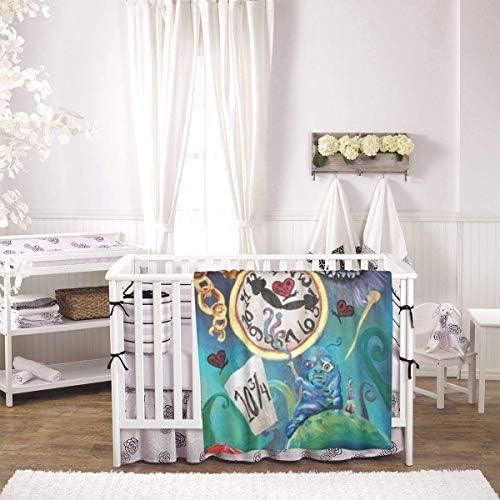 shihuainingxianruandans Couverture de bébé de Confort, Couverture Chaude Douce d'Alice au Pays des Merveilles pour la Poussette de Nouveau-né Infantile Voyage en Plein air