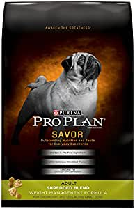 Purina Pro Plan SAVOR Adult Shredded Blend Weight Management Formula Dry Dog Food - (1) 6 lb. Bag