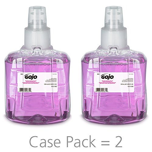 GOJO LTX-12 Antibacterial Foam Handwash, Plum Fragrance, 1200 mL Refill for GOJO LTX-12 Touch-Free Dispenser (Pack of 2) - 1912-02 ()