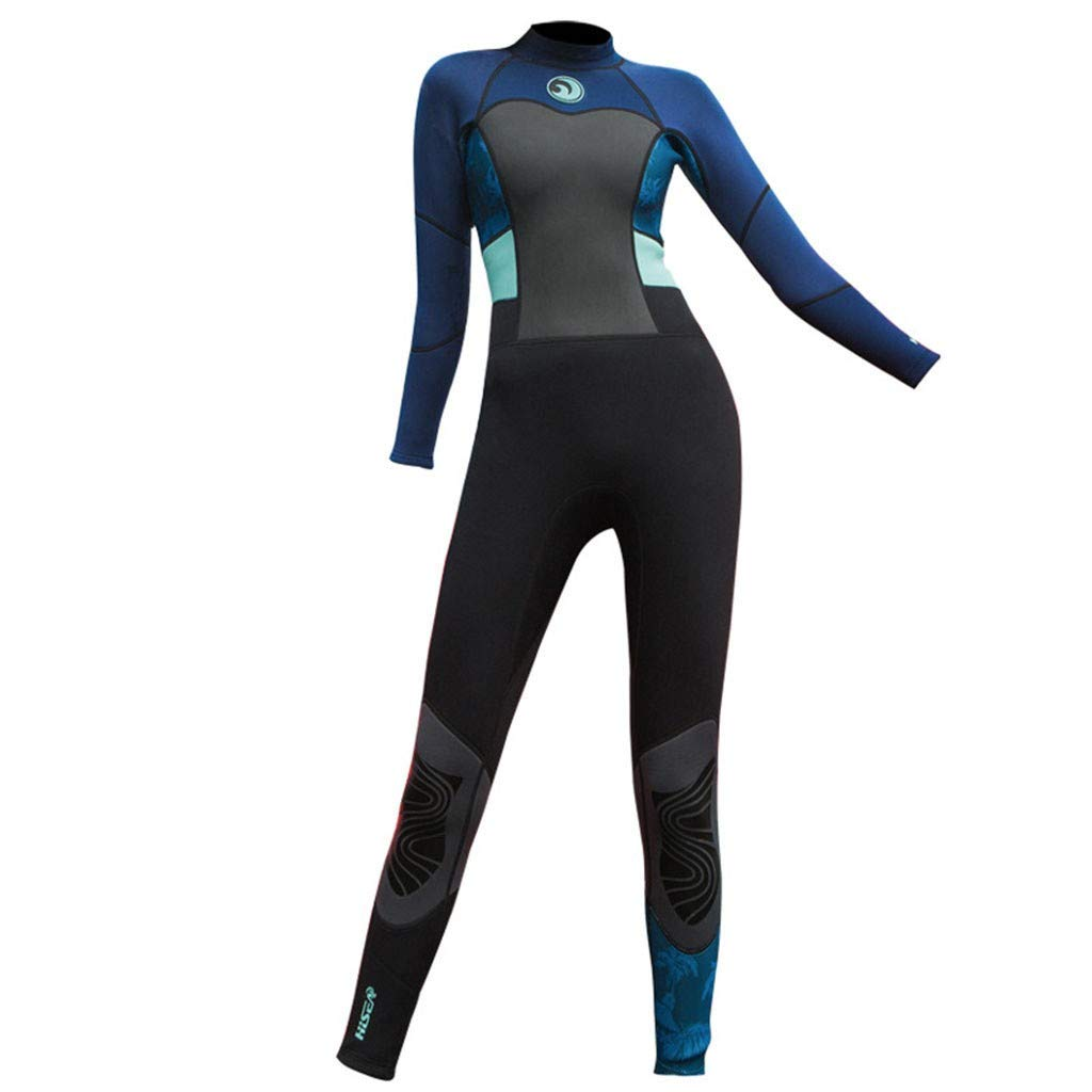 Wetsuit Forthery Womens 1.5mm Diving Suit Full Body Scuba Wetsuit Surf Swimming Jumpsuit Surfing suit Dive Skin Suit(Navy,XXL=US 12) by Forthery-Women