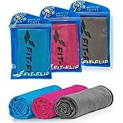 Fit-Flip Kühltuch 3er Set, kühlendes Handtuch für Wandern, Laufen, Tennis, Reisen, Kühltücher Hals, Handtuch kühlend