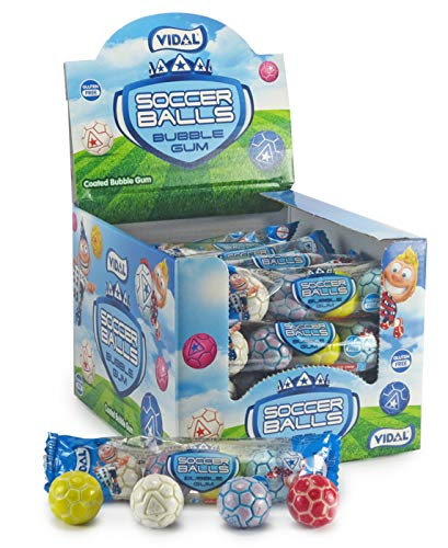 Vidal Soccer Balls Bubble Gum 24-4packs ()