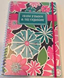 Home Finance & Bill Organizer with Pockets (Bright Flowers)