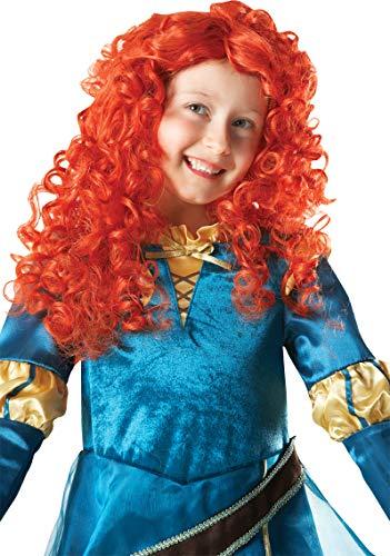 Girls Disney Brave Princess Merida Curly Ginger Scottish