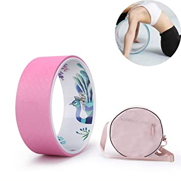 CWDXD Pilates Ring Yoga Wheel 33cm × 13cm Strong Premium ...