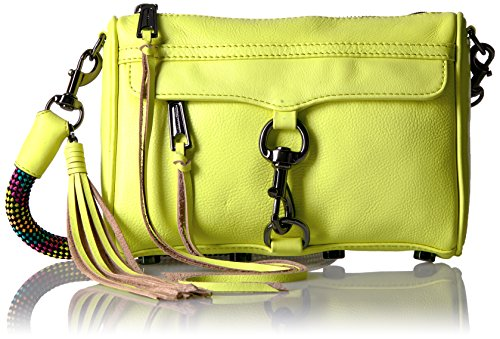 Rebecca Minkoff Mini Mac with Climbing Rope, Neon Yellow (Rebecca Minkoff Mini Mac)