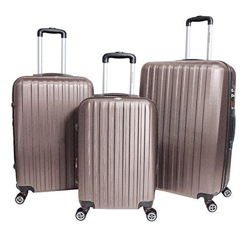 World Traveler Barcelona 3-Piece Hardside Tsa Spinner Luggage Set, (Luggage Set 30 Inch)