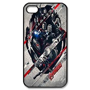 Tyquin Avengers IPhone 4/4s Case Avengers Age of Ultron Posters for Women Protective, Iphone 4 Case for Teen Girls for Women Protective [Black]